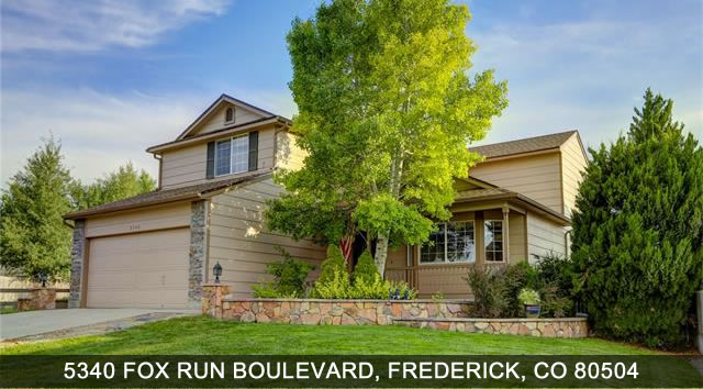 Colorado Real Estate - 5340 Fox Fun Boulevard, Frederic CO 80504