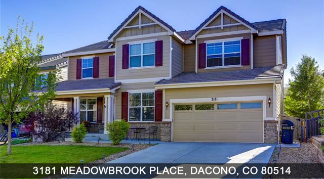 Dacono Homes for Sale 3181 Meadowbrook Place