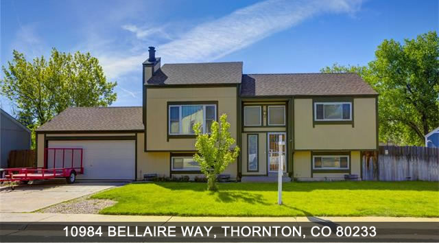 Home for sale in Thornton 10984 bellaire way thornton co 80233